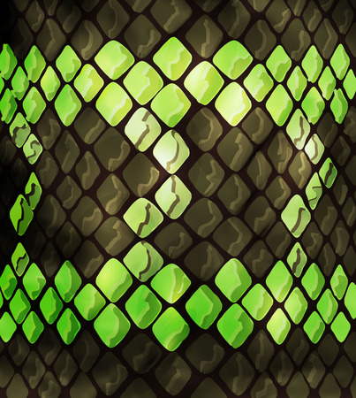 snakeskin, excellent design for any purpose in green. snake texture background, surface design. Animal print, snake skin texture with ornament and pattern. - Vector graphics,
