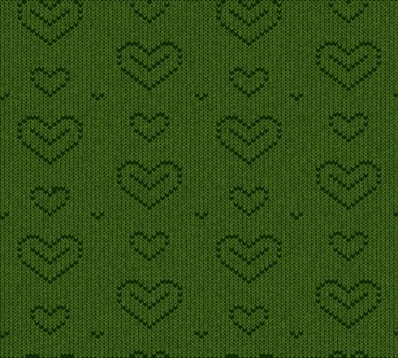 loving heart vector element isolated on green background