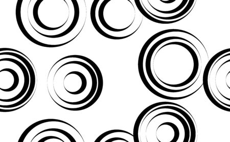 black circles in minimalist style isolated on white background.  イラスト・ベクター素材