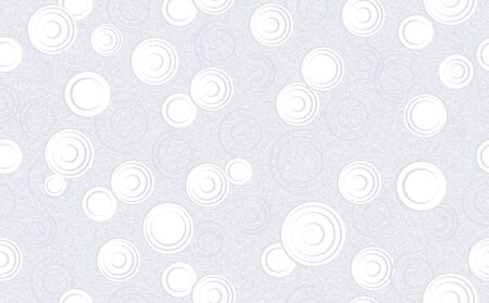 abstract circles in minimalist style isolated on grey background. panoramic seamless background with geometric circles, shapes. decorations on a textured background. Composition for textile design, we  イラスト・ベクター素材