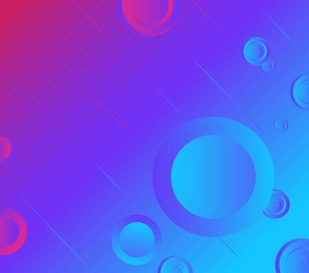 colorful geometric background of abstract circles.