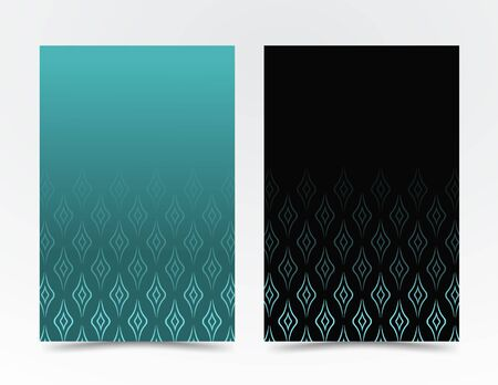 geometric shapes, in a minimalist style. Abstract line in the form of waves for advertising. business design, brochure covers, banner. Blue, black vector banner, poster. EPS 10