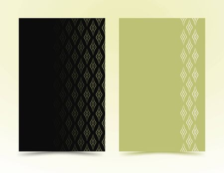 geometric shapes, in a minimalist style. Abstract lines in the form of waves for advertising. design cases, covers, brochures, banner. green, black vector banner, poster. EPS 10