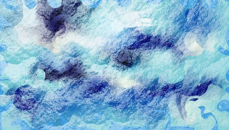 Colorful cover design, background with textures. Close-up picture. Abstract, liquid lines in the form of a sea wave. blue Wallpaper for design, advertising, poster. Contemporary art.