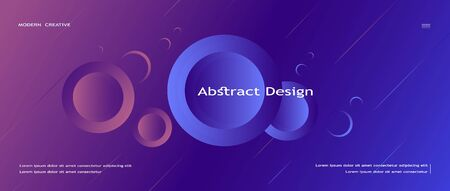 minimalist geometric background of abstract circles. dynamic design, composition of gradient elements. the liquid form of the figures. design for websites, advertising, business presentations. landing page