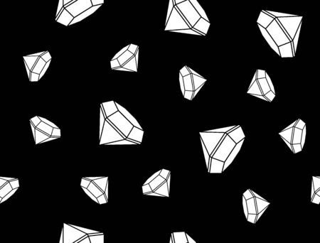 seamless texture . black and white geometric pattern of primitive shapes in a minimalist style. gradient, luxury Diamond isolated on black background. dynamic pattern. the subtle background