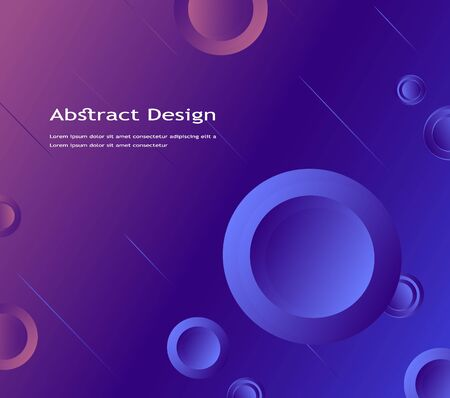colorful geometric background of abstract circles. the liquid form of figures in a dynamic style, gradient fill. vector design for Wallpapers, websites, advertising, business presentations. modern technology, art.  イラスト・ベクター素材
