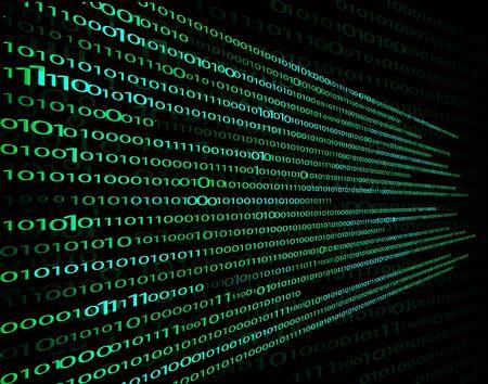 ensemble numérique de 1, 0, technologie informatique. informations cryptées et secrètes des caractères à encoder. fond vectoriel, design moderne, matrice sur fond noir. pour vos idées