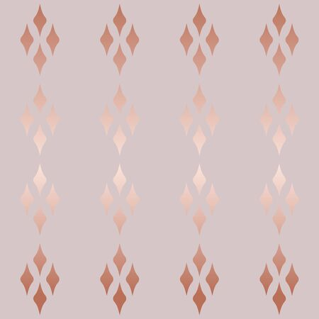 Abstract geometric seamless vector background. modern rose gold pattern. minimalist style. luxury pattern, glitter,  rhombus gradient. advertising for web banner, design, Wallpaper, paper.