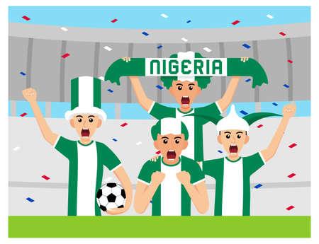 Nigeria Supporters in flat design Stock Vectors Illusztráció