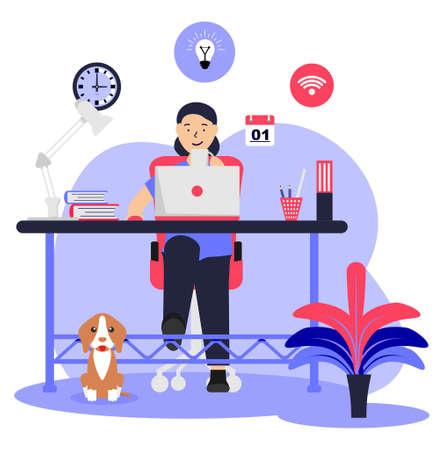 Freelance Online Job Artist SOHO vector