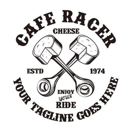 Motorcycle Cafe Emblem Illusztráció