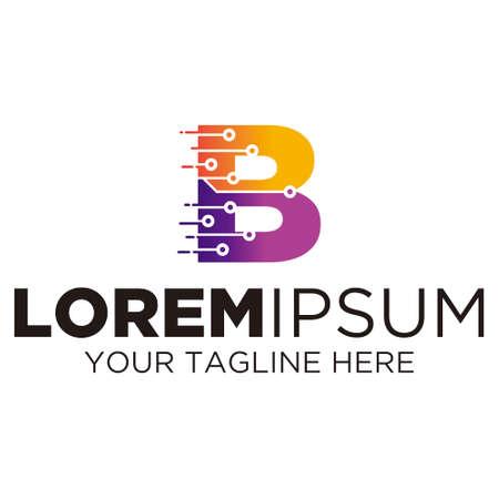 Letter B Technology Logo