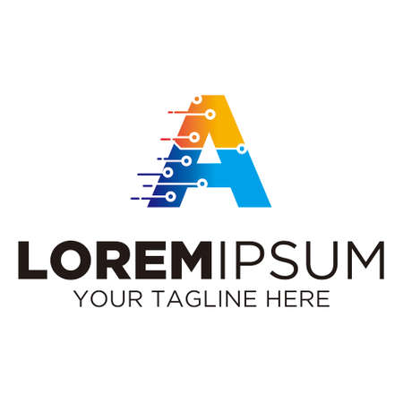 Letter A Technology Logo