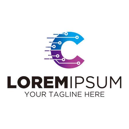 Letter C Technology Logo