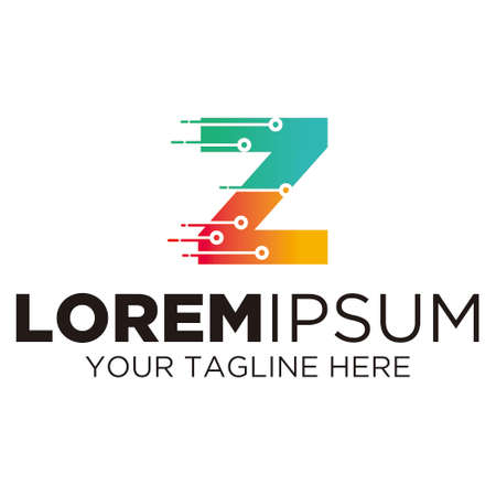 Letter Z Technology Logo