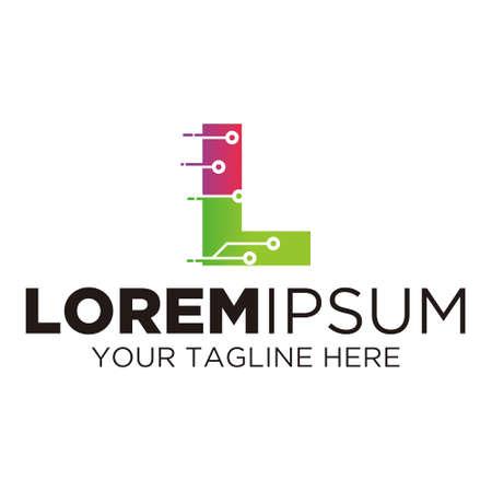 Letter L Technology Logo