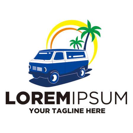 travel car logo template