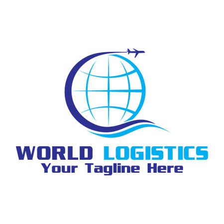 world shipment, vector logo illustration. Logos