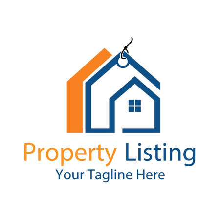 property listing, vector logo illustration.