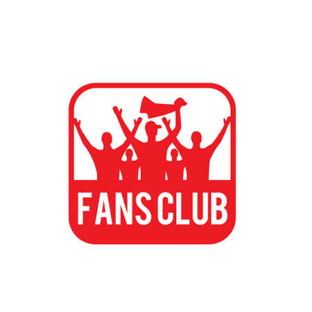 fans club, vector logo illustration.