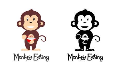 monkey eating logo Logo