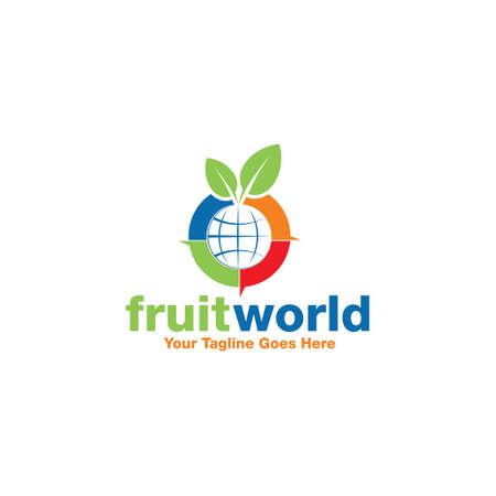 fruit world logo Çizim