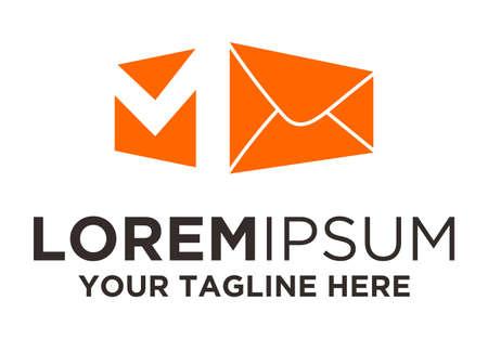 Post Box mail logo template