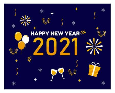 Flat design Happy New Year background