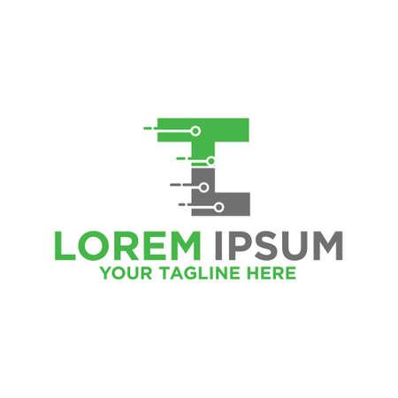 Letter T, Letter L Technology Information Logo Logó
