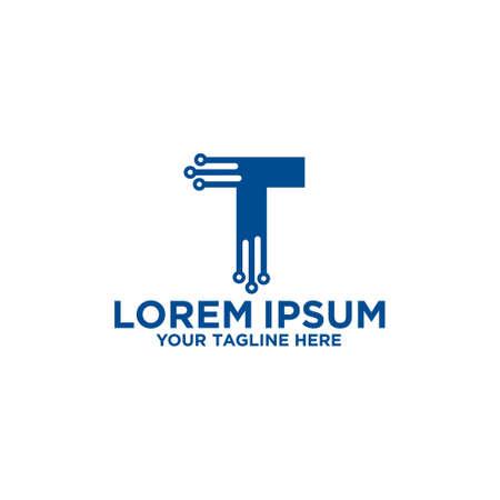 Letter T Technology Logo Template Logó