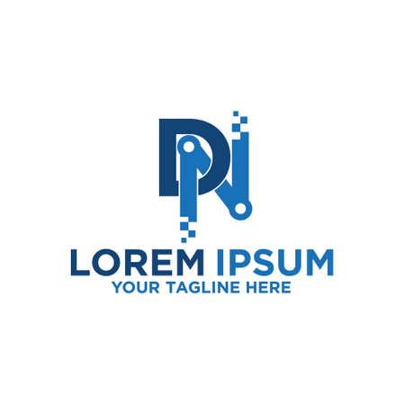 Initial Letter D & N Pixels logo Logo