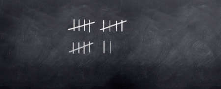 A simple way of keeping tally of a score in a game with the strike system