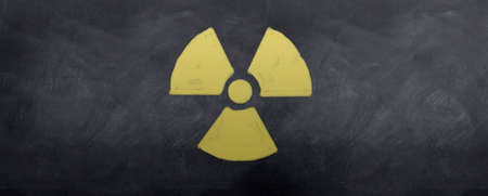 A sketched symbol for warning nuclear disaster Stock Photo