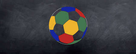 A round world cup soccer ball is sketched on the blackball for the Aouth African world cup 2010