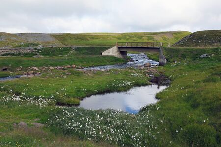 Small bridge somwhere in country Northern Iceland