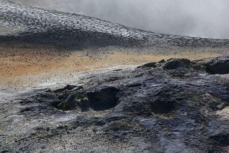 Hot springs Namafjall in Iceland
