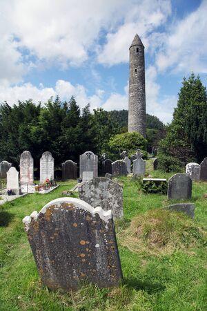 Glendalough Monastic Site and a cemetery in Ireland