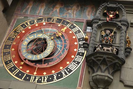 Clock on the clock tower of Bern