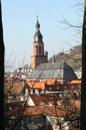 View of Heidelberg in Germany in winter