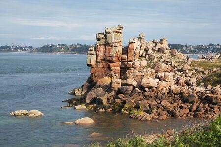 The Pink Granite Coast, Cote de granit rose, in Brittany, in France