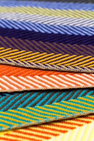 Colorful fabrics in detail view