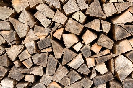 Firewood stacked taken as closeup Imagens - 23132248