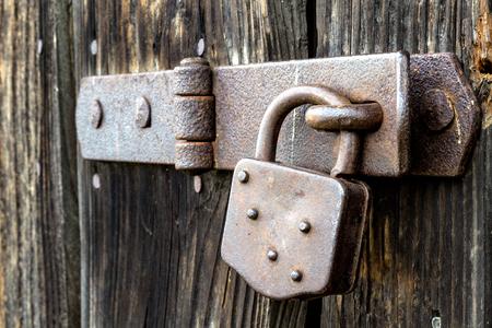 View of padlock in detail