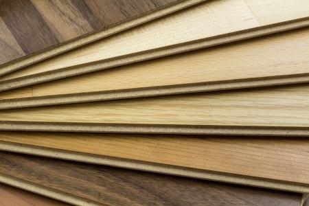 Wooden floor in detail view photo