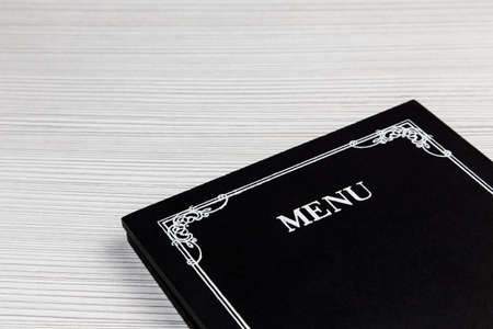 Menu card in detail with copy space