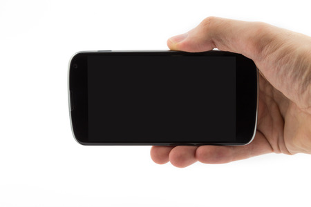 Hand with cell phone