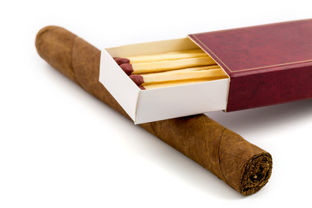 Cigar with matches isolated Imagens