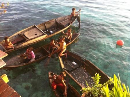 mabul: Kids in Mabul Island   Stock Photo