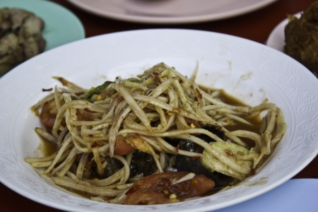 Som Tam Pu (PAPAya Salad with Salt Crab) photo